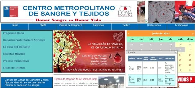 donación de sangre CCS calendario